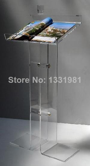 Organic glass MC platform The force that press a gram podium Acrylic ZhuChiTai news Welcome clients table lectern The platform(China (Mainland))
