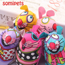 Fat Interactive Fancy Catnip Cat Toy Fat Canvas Colorful Mouse Cat Mint Goods For Pets Funny Mouse Fun Toys For Cat Toys Mouse(China (Mainland))