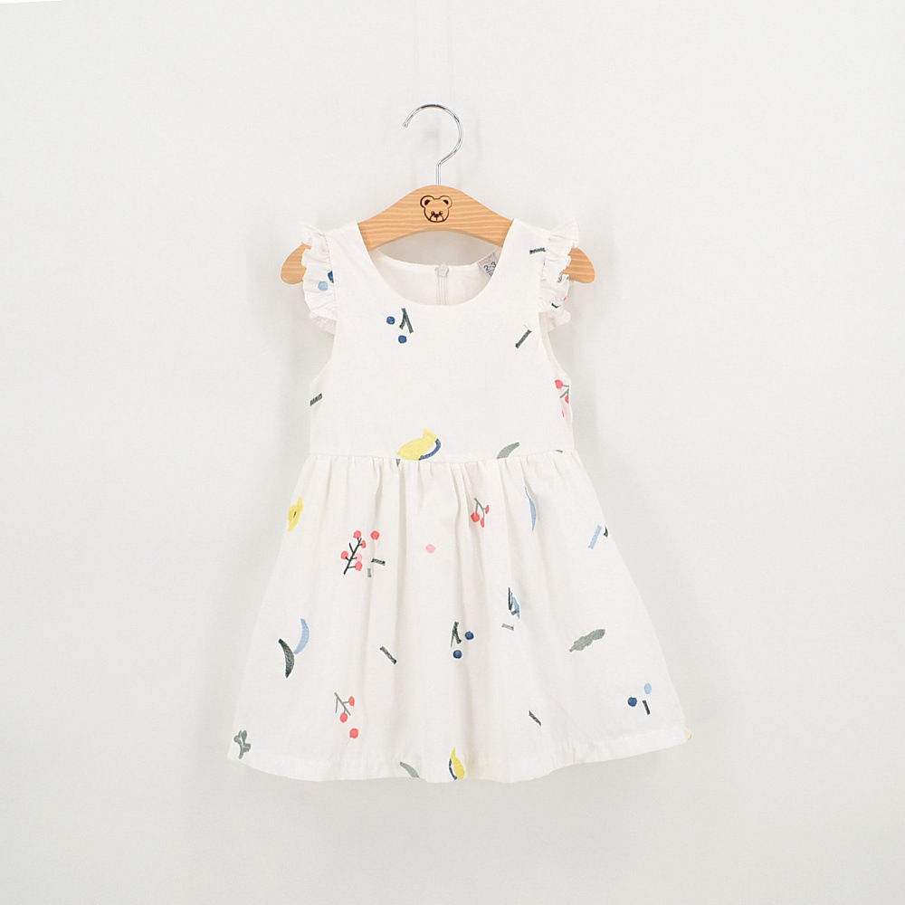 Kids Dress Summer Style Girls Casual Dresses A line Cotton Baby Girls Dresses Floral Print Children Dress Designer Kids Clothes(China (Mainland))