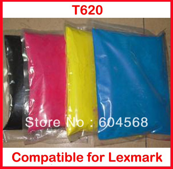 Фотография High quality color toner powder compatible Lexmark t620 Free Shipping