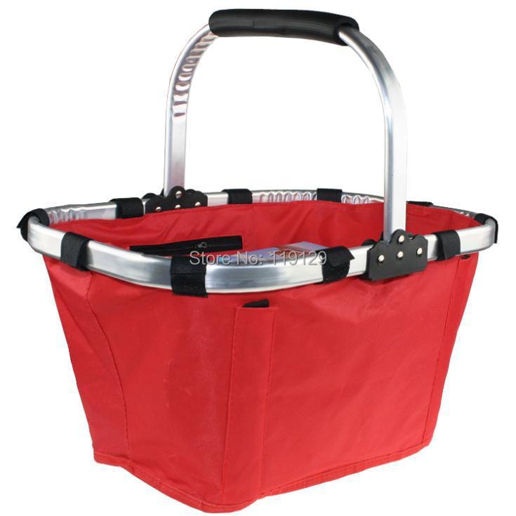 Portable Folding Basket Collapsible Shopping cart Garden Bag Camping Vegetable Tote Basket Picnic Outdoor Market organizers(China (Mainland))