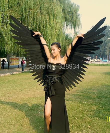 Крылья своими руками черные 62