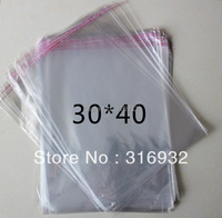 E4 Clear Resealable Cellophane/BOPP/Poly Bags 30*40 cm  Transparent Opp Bag Packing Plastic Bags Self Adhesive Seal