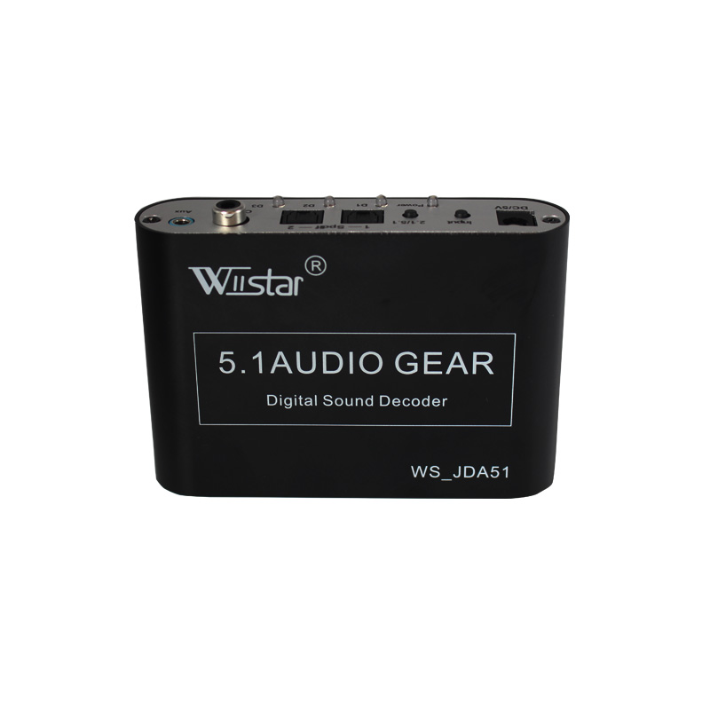 Wiistar 5.1 ch audio decoder SPDIF Coaxial to RCA DTS AC3 digital to 5.1 amplifier analog Converter for PS3,DVD player, Xbox(China (Mainland))