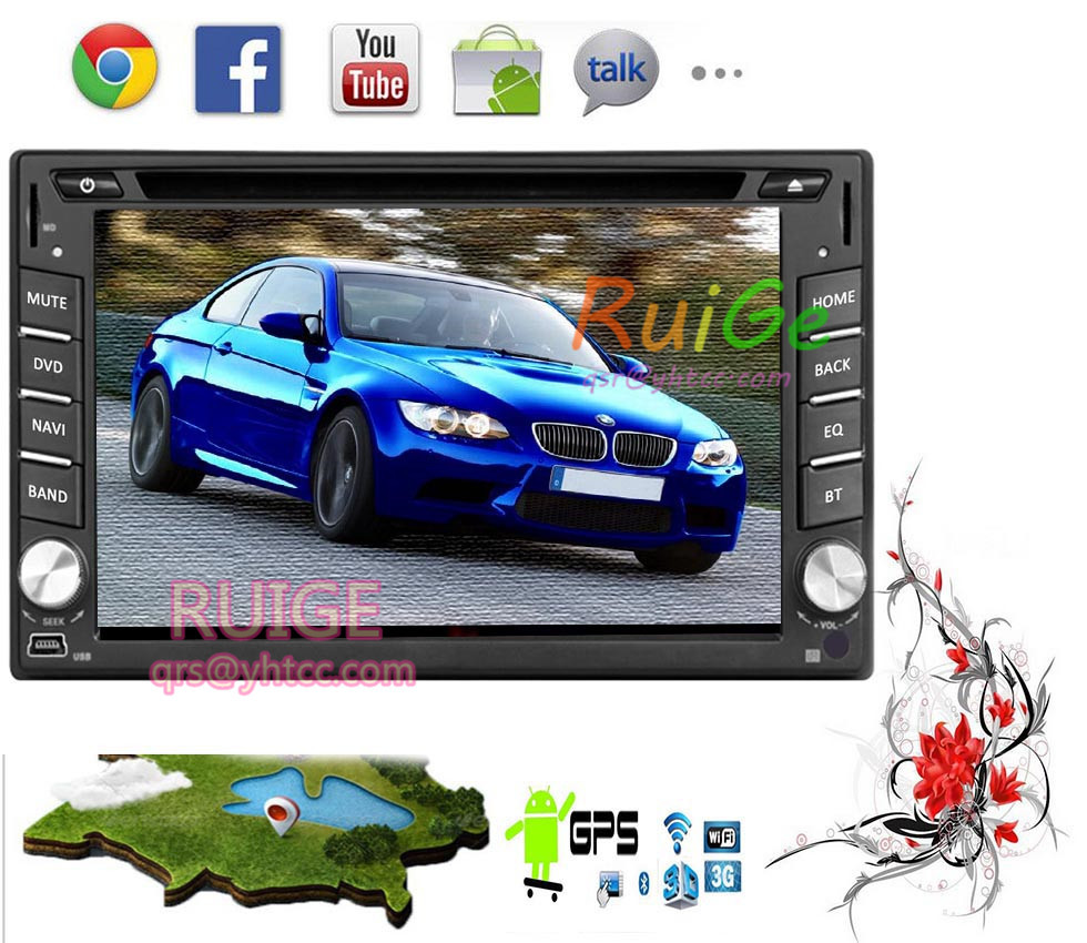 USA Wifi 6.2'' 2 DIN Android 5.1 Car Stero Radio GPS Navigation Car DVD Player In Dash Car PC Audio BT IPOD Head Unit()