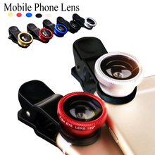 3 in 1 Universal Clip Camera Cell Mobile Phone Lens For iPhone 4 5 6 Plus Samsung S6 S5 S4 Sony Z3 Fisheye Lens Wide Angle Macro