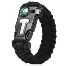 Buy 5 1 Outdoor Camping Survival Gear Escape Buckle Paracord Bracelet Fire Starter / Whistle / Compass / Scraper for $3.39 in AliExpress store
