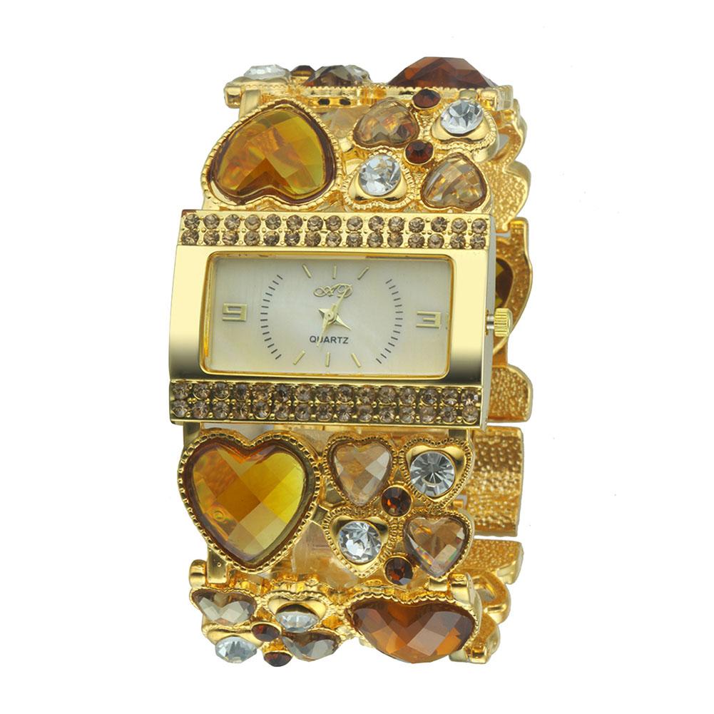 Hot Sale Shiny Heart Shape Rhinestone Women Watches Luxury Quartz Watch Imitation Diamond Ladies Watches Lady Wrist Watches Gift(China (Mainland))
