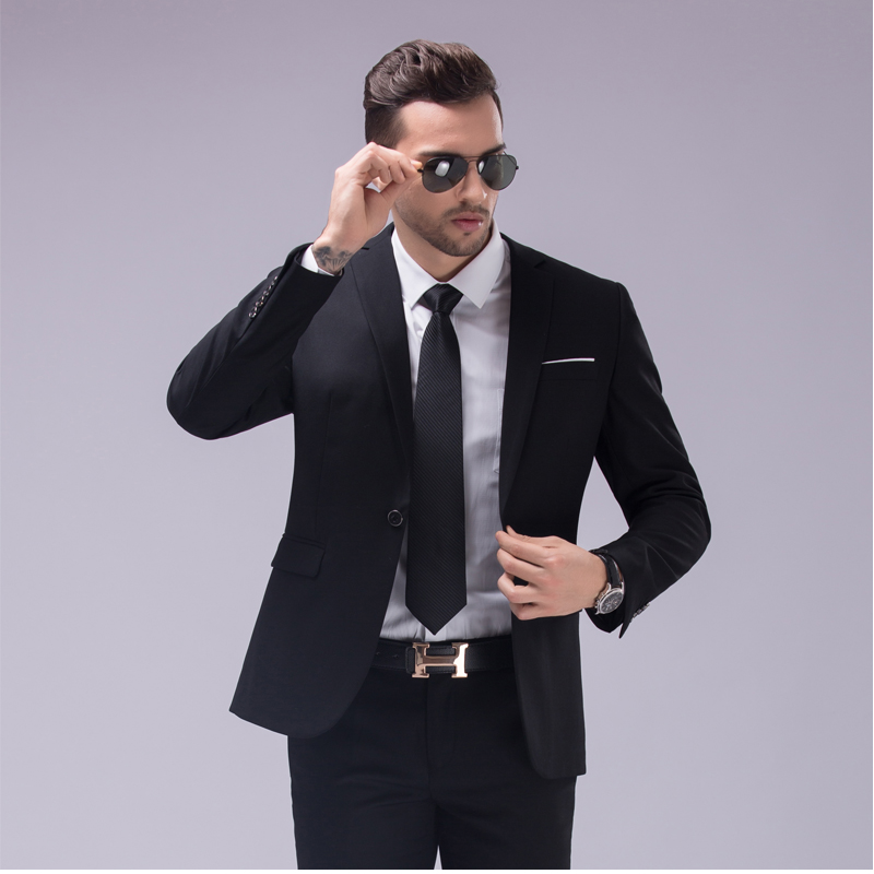 2016 new fashion wedding suits for men slim blazer coat+pant men business formal groomsman blazers terno masculino J290(China (Mainland))