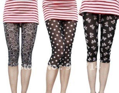 "3color 2012 Leg straps 7""underwear/elastic breathable 7""pant leggings/summer women's 7"" pants/Cool 7"" leggings/lace edge leggngs"