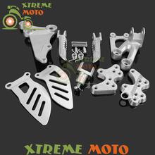 Buy Motorcycle Front Rider Footrests Foot Peg Rests Pedals Tripod Brackets Mount Suzuki GSXR600 GSXR 750 06 07 08 09 10 11 for $8.99 in AliExpress store