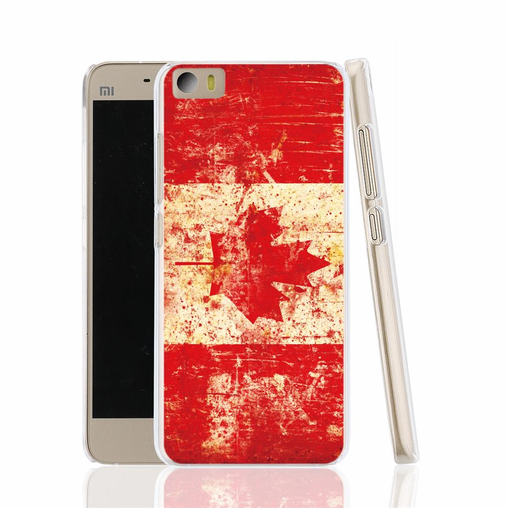 13678 flag canada map leaf red cell phone Cover Case for Xiaomi Mi M 2 3 4 5 Mi4 Mi2 Mi3 Mi4 4S 4I Mi5 NOTE(China (Mainland))