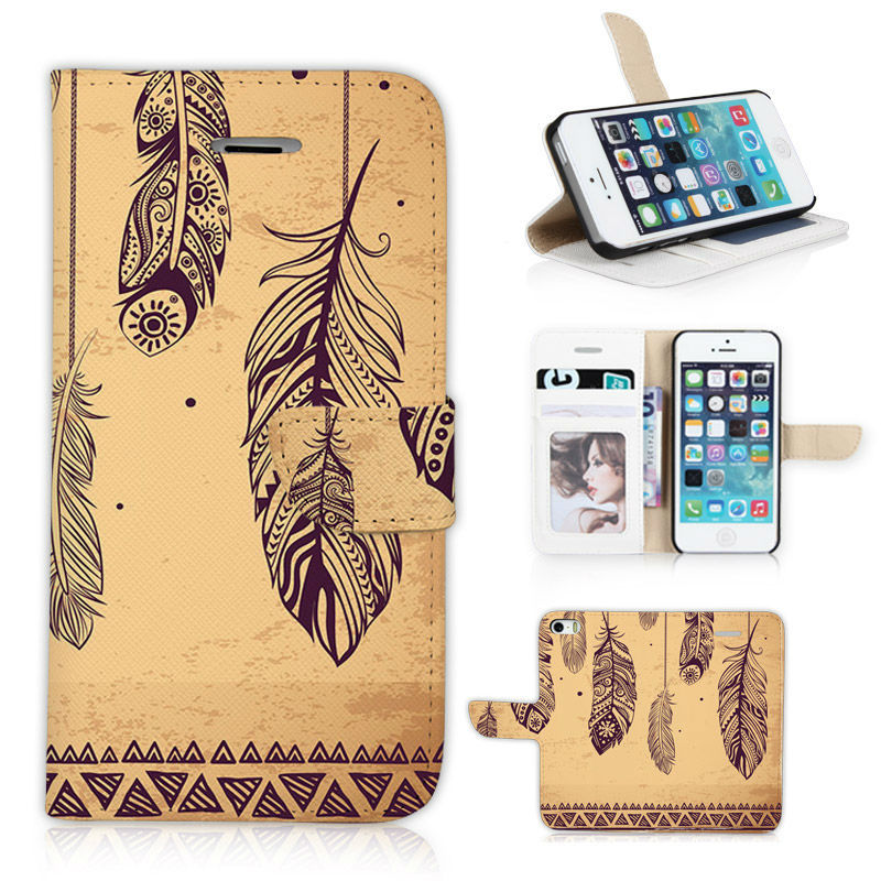 2015 New Tranquil Feather wind BTD Luxury Mobile Phone Case for iphone 5 5s 5g Cortex retro Flip Cover P002-5G with Money layer(China (Mainland))