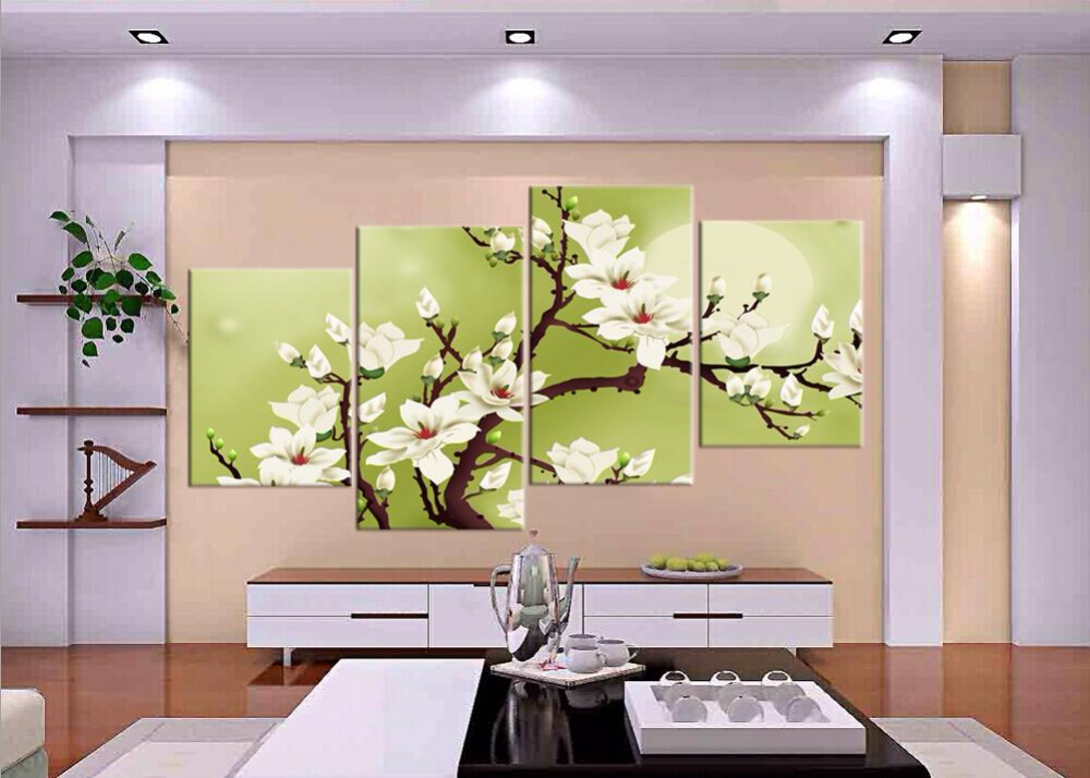 Buy 4 piece hot sell modern wall painting for Where to buy wall paint