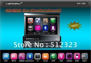 7''One-Din Multimedia Bil bluetooth RDS,Ipod,GPS,TMC&DVB-T optional