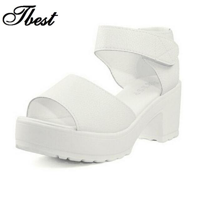 Бесплатная доставка 2015 черный белый сандалии туфли на высоком каблуке рабочая обувь ...