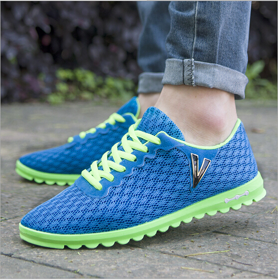 2015 new casual mens shoes breathable mesh network V-casual mens shoes, wholesale selling single<br><br>Aliexpress