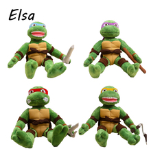2016 TMNT 28cm The Teenage Mutant Ninja Turtles Plush Toys Movies & TV Toys & Hobbies WJ257(China (Mainland))