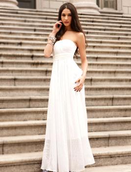 Graceful Wedding Dress/ Charming Fairy Wear/ Chiffon Wedding Gown/ Vintage Party Dress/ Red Carpet Dress
