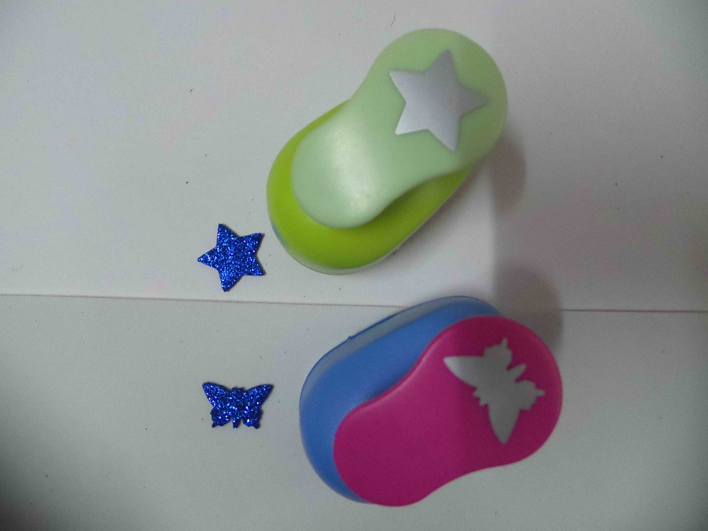 2pcs(2.5cm) butterfly and star shape craft punch set Punch Craft Scrapbooking school Paper Puncher eva hole punch free shipping(China (Mainland))