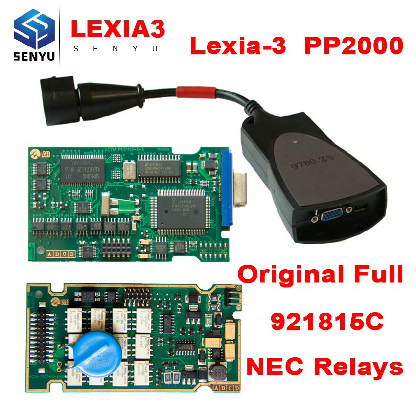 Lexia 3 PP2000 Diagbox 7.83 FW 921815C Full Chip Lexia3 Diagnostic Scanner Tool Lexia-3 PSA XS Evolution OBD OBD2 Scanner(China (Mainland))