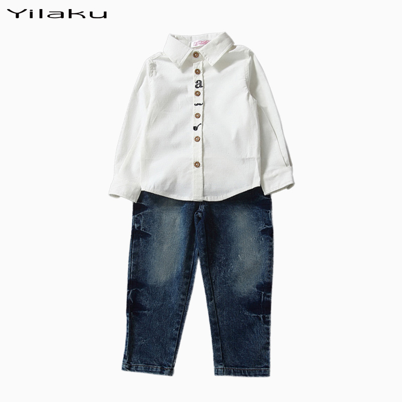 Fashion Little Boys Clothing Suit 2 pcs Cotton Boy T-shirt+Pants Sets Kids Outfit Overall Spring Autumn Children Wear CF380(China (Mainland))