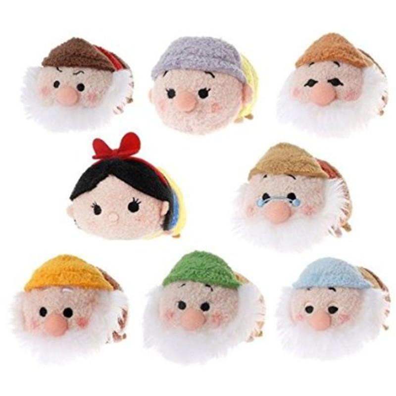 Tsum Tsum snow white and Seven Dwarfs plush mini doll.Plush kawaii Tsum Tsum screen cleaner key chain bag.(China (Mainland))