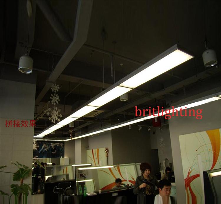 Stick Suspended Lamp 120 General Lighting Quadrifoglio Office ...