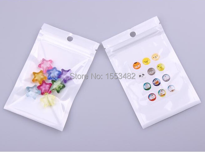9*12 cm White valve bag Pearl film Clear ziplock bags retail ornaments packaging plastic bags Free Shipping(China (Mainland))