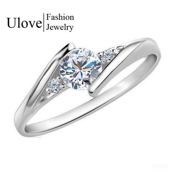 Women Rings Love 925 Sterling Silver Crystal Wedding Ring New 2015 Anel Feminino Valentine's Day Gift Ulove Fashion Jewelry J045(China (Mainland))