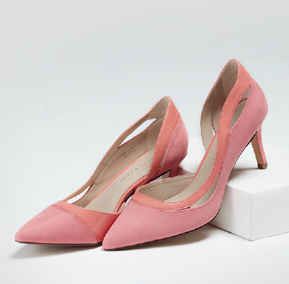 Spring New Sexy Pointed High Heels Side Hollow Out Women Shoes Professional Dress Temperament Women Pumps Slip On Shoes Woman<br><br>Aliexpress