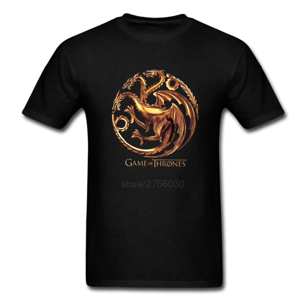 Game Of Tones Targaryen Dragon t shirt Men Women tee Short Sleeve Tshirts Asian size S~XXXL(China (Mainland))