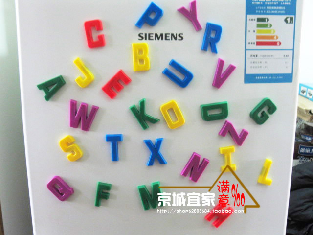 26 pcs/lot English Alphabet Letters Fridge Magnets, Baby Educational & Learning Toy, Home Decor , Refrigerator Message Board(China (Mainland))