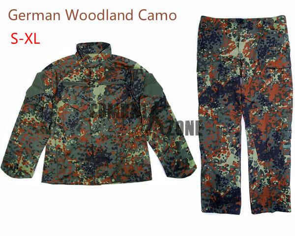 V2 BDU Uniform Shirt + Pants German Woodland Camo S-L<br><br>Aliexpress