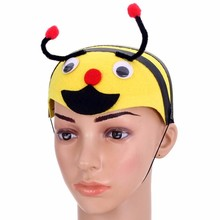 Yellow Bee Head Pattern Party Hat NEW Fashionable Cute Decoration Supplies for Speacial Decoration For Adult And Kids(China (Mainland))
