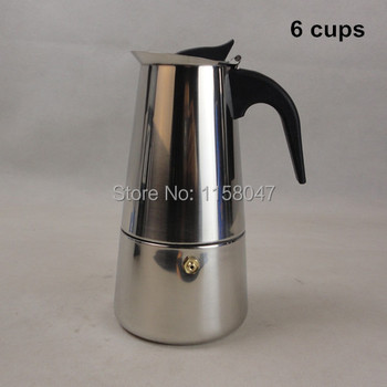 6 Cup / 300 мл нержавеющая сталь мока эспрессо латте перколяторе плитой кофе горшок