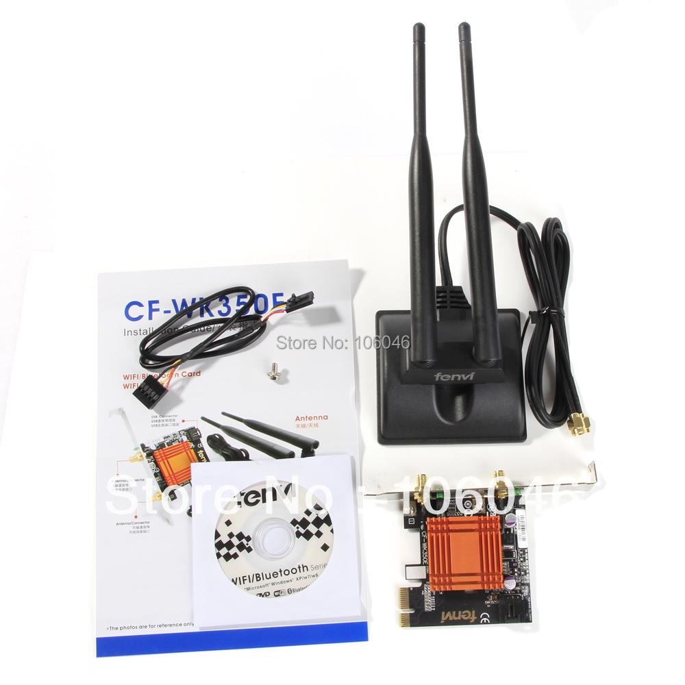 WiFunni CF-WK350E Wifi Wireless Wlan 300Mbps + Bluetooth 4.0 Card Wifi Dongle Lan Card PC wifi antenna adapter Free shipping(China (Mainland))