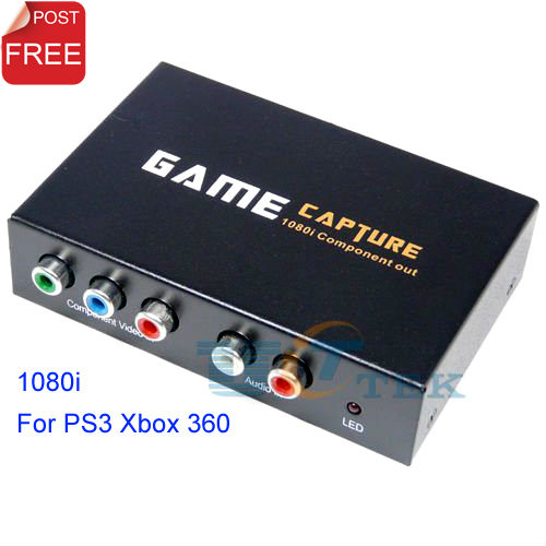 HD1080i Gamecap USB 2.0 Component Video Game Capture + L/R Audio Recorder Converter For PS3 XBOX 360 on PC Singapore Post(China (Mainland))