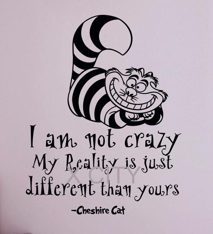 Alice In Wonderland Quote Cheshire Cat I Am Not Crazy ...