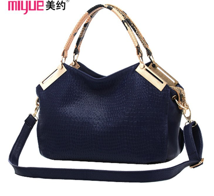 Hot Selling New 2015 Crocodile Pattern Women PU Leather One Shoulder Cross Body large capacity Bags designer handbags wholesale(China (Mainland))
