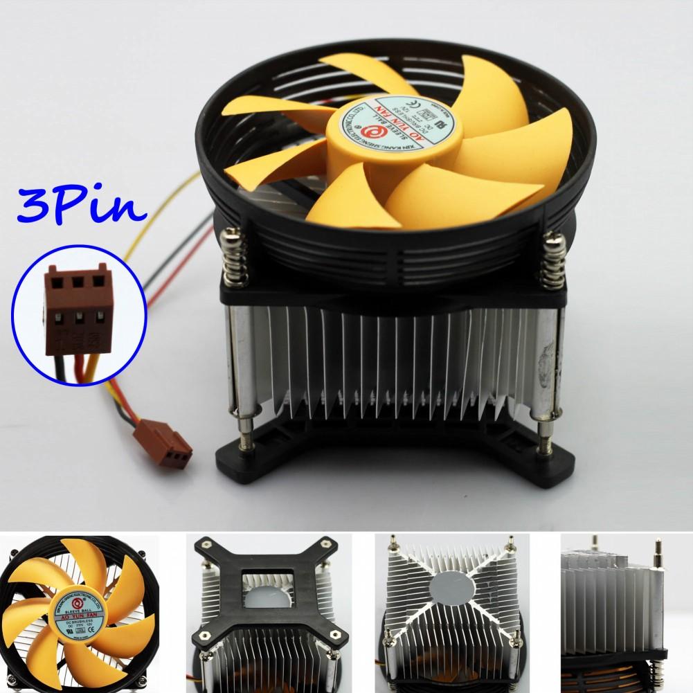 2016 New Water Cooler Controller Computer A-85 3pin Cpu Cool Cooling Heatsink Pc Cooler Yellow Silent Support Lga775 30pcs/lot(China (Mainland))
