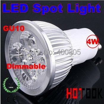 gu10 e27 mr16 4w 4*1w LED Spot Light foco led lamps dimmable bulb lustre lampada bombillas led 110v 220v DC12V CE ROHS 10pcs