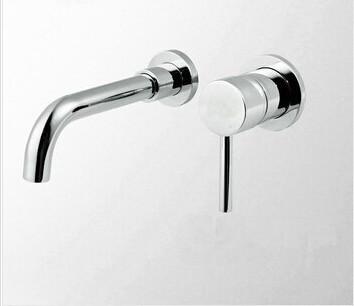Купить 2016 латунь высокого качества ванная комната в стену кран раковины с вращающимися сантехники трубы бассейна кран