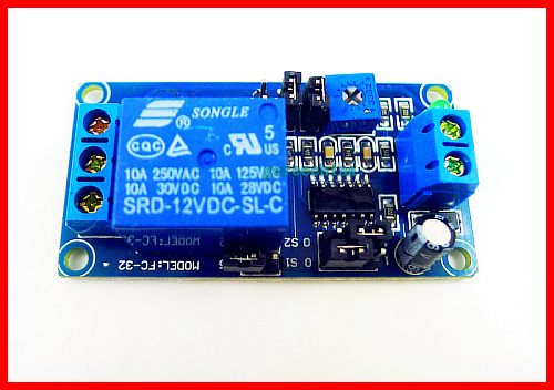 DC 12V delay timer relay with delay adjustment potentiometer turn on/off switch module 2pcs/lot(China (Mainland))