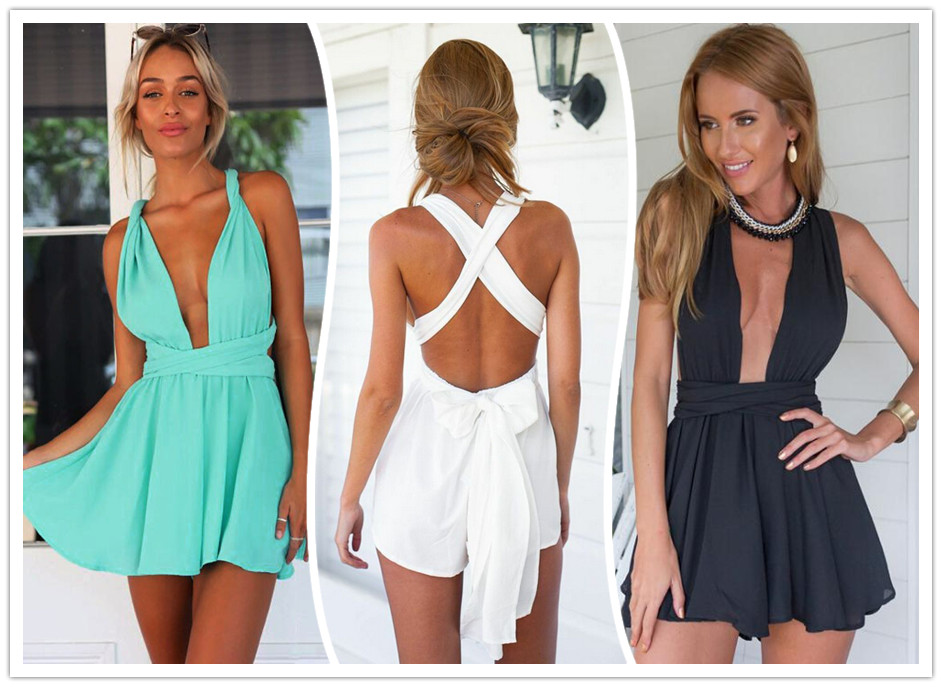 Summer Jumpsuits White Black Sexy Bodysuit Overall Women Jumpsuits Ladies Overall Monos For Women Monos Largos