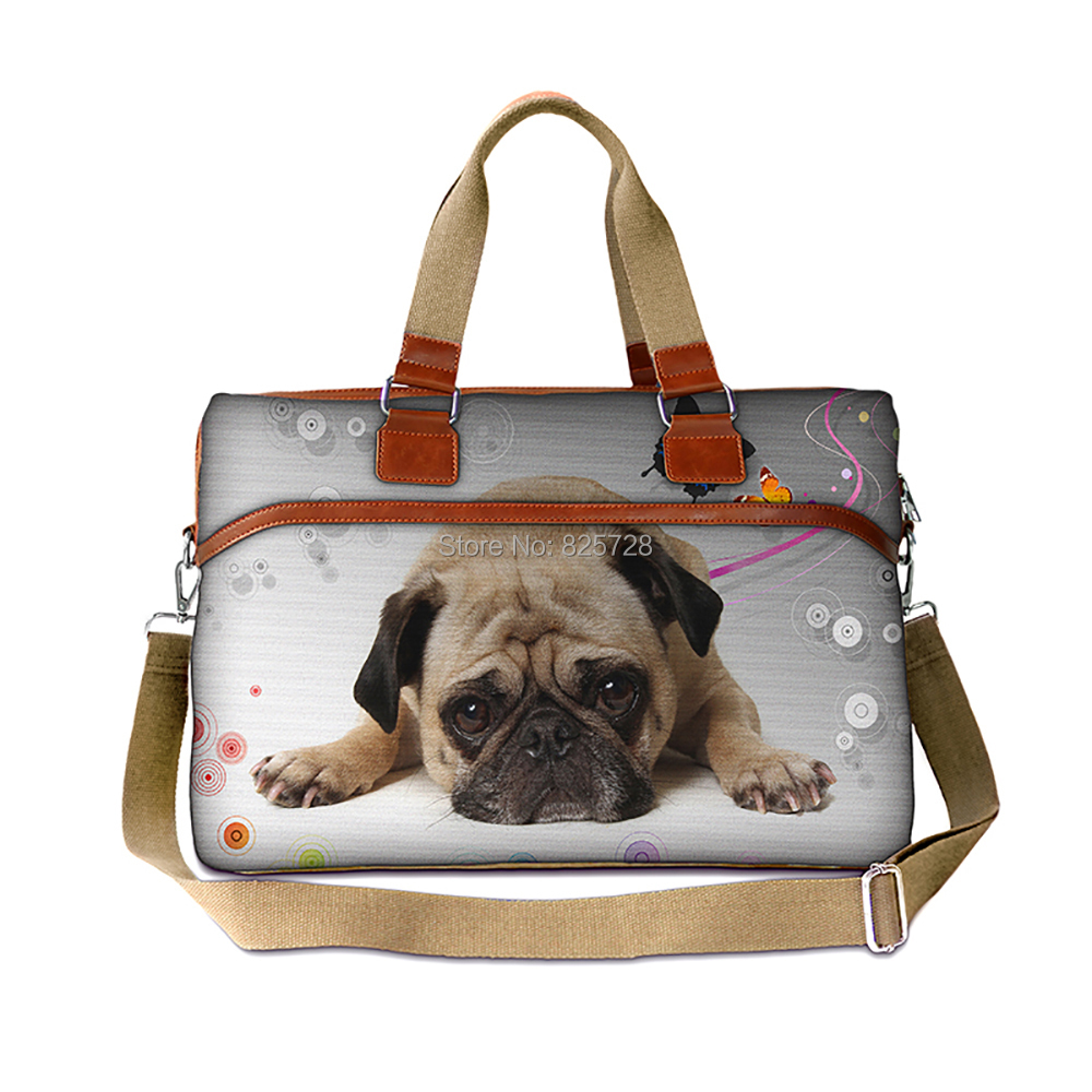 Fashion Pug design canvas luggage handbag women travel bag portable duffle overnight weekend large capacity - Amei's Bag store