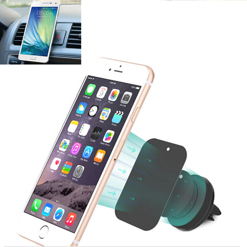 Universal magnetic mobile phone holder for iphone 6 5S car air vent mount holder stand for cell phone S6 suporte celular carro(China (Mainland))
