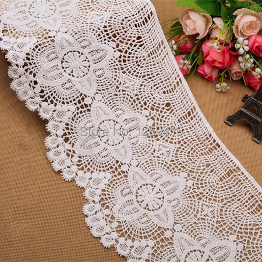 New!16CM Wide,Retro Water Soluble Pure Cotton Embroidery Lace Trim Fabric,DIY Sewing Garment Accessories Quilting Material Craft - DIY Handmade World store