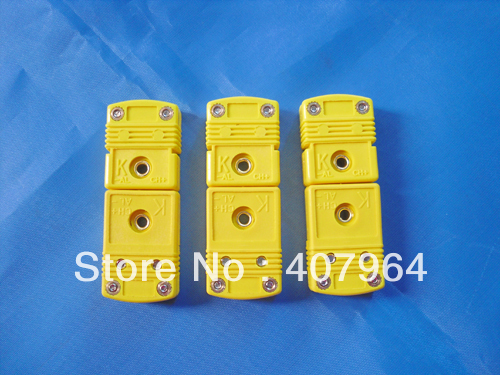 Omega Thermocouple Type T : Omega type yellow color flat pin male and female mini