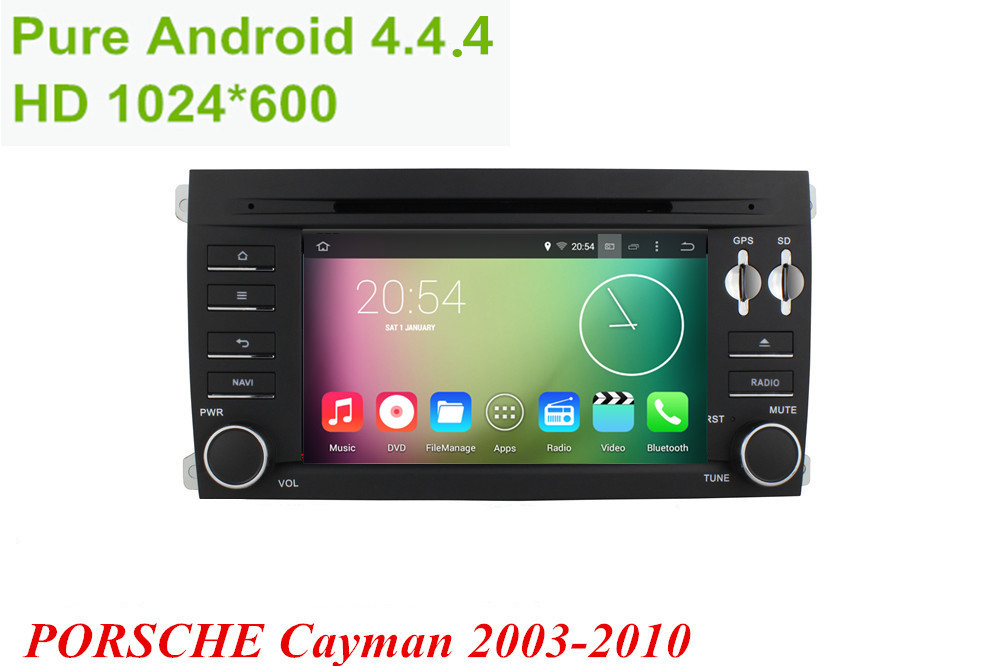 """Android 4.4.4 HD 1024*600 Quad core 1.6GHz Nand Flash 16GB 7"""" Car DVD player For Porsche Cayman 2003-2010(China (Mainland))"""